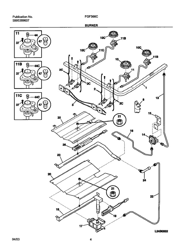 Diagram for FGF366CSB