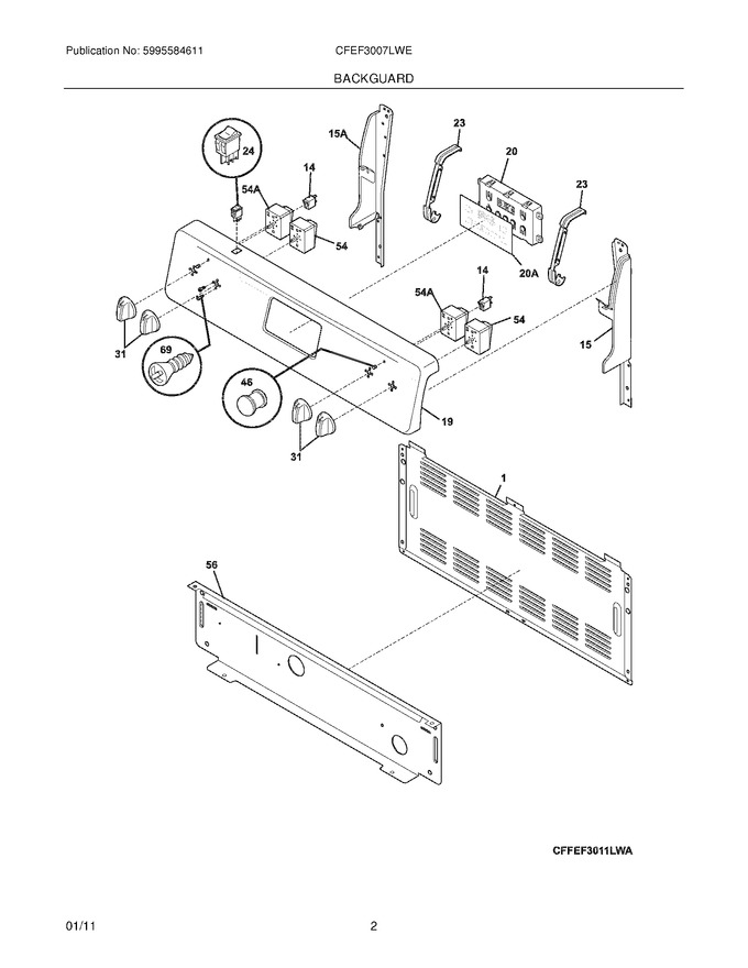 Diagram for CFEF3007LWE