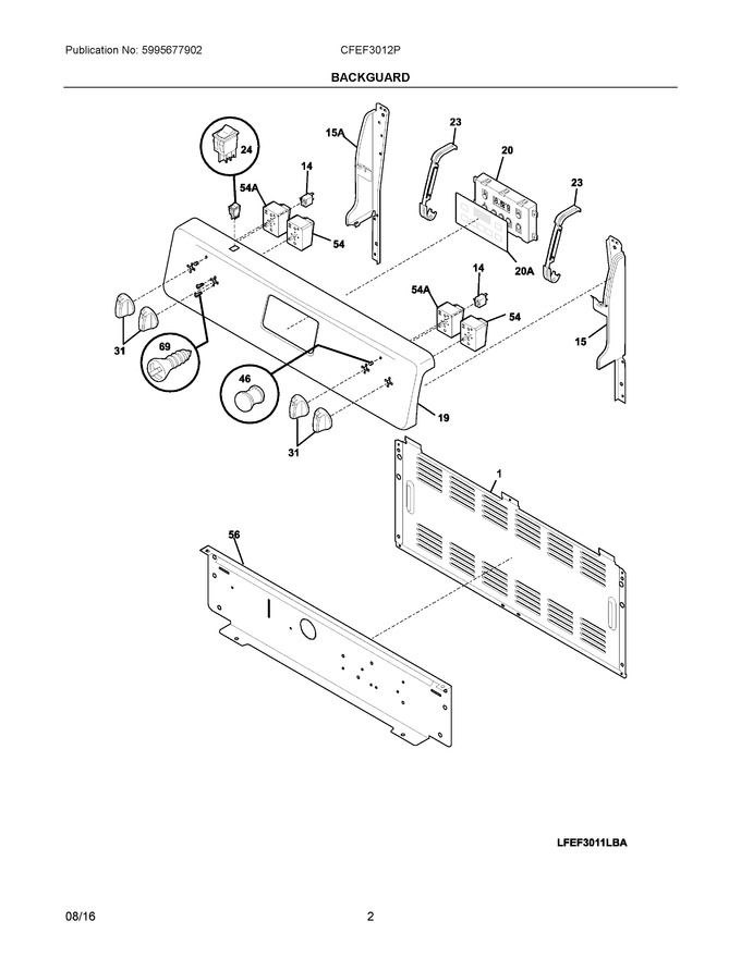 Diagram for CFEF3012PBD