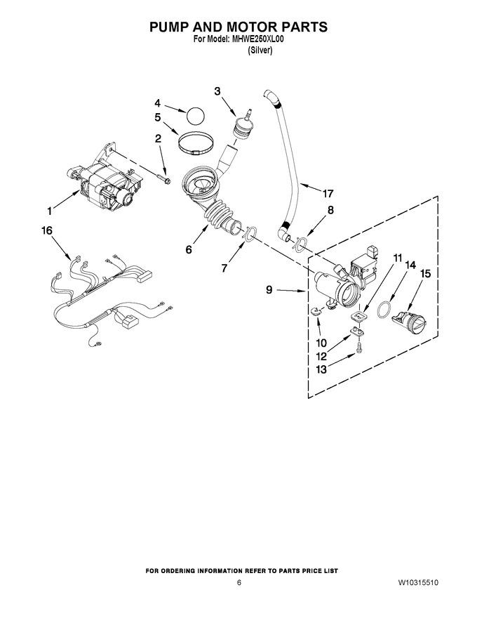 Diagram for MHWE250XL00