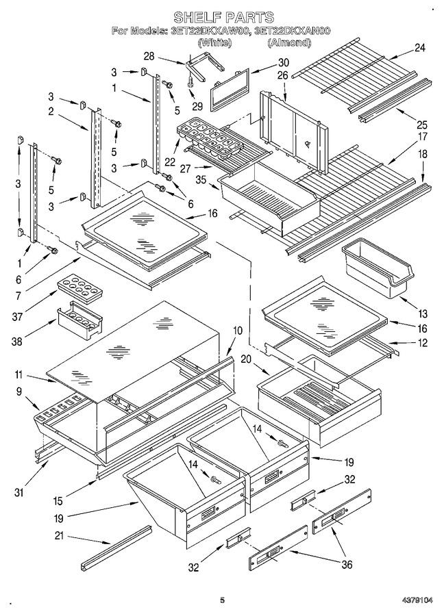 Diagram for 3ET22DKXAW00