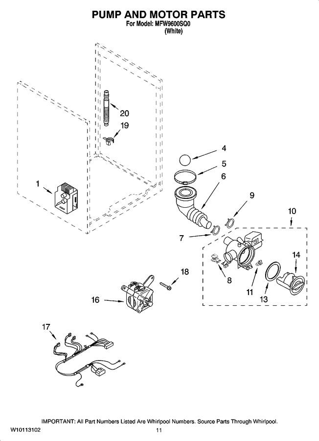 Diagram for MFW9600SQ0