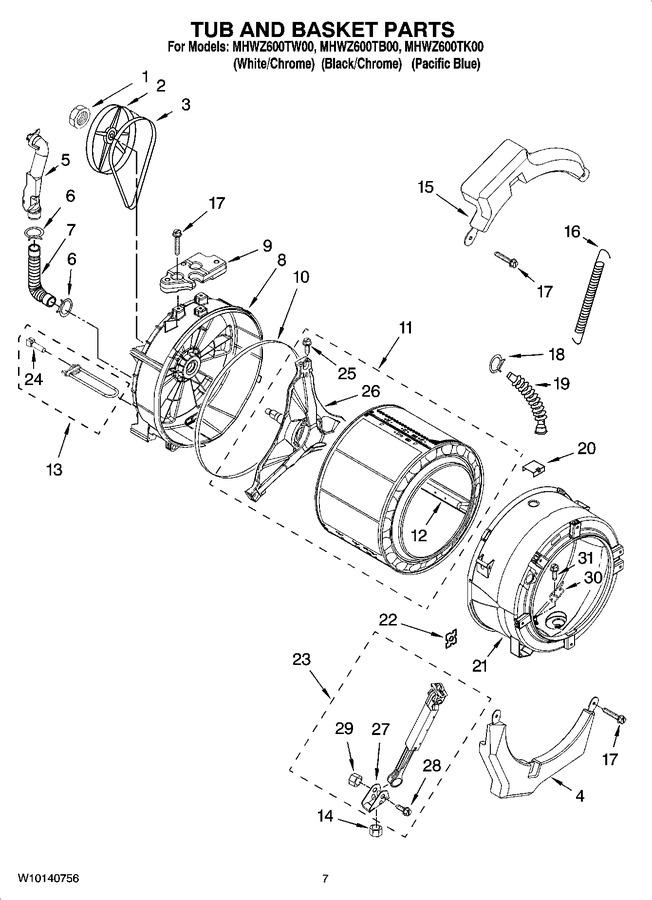 Diagram for MHWZ600TW00