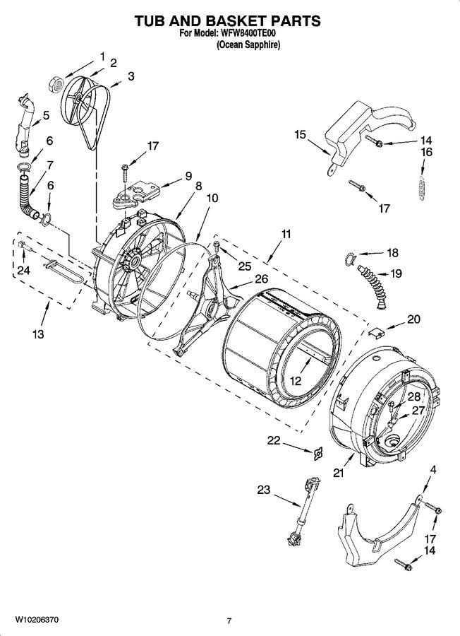 Diagram for WFW8400TE00