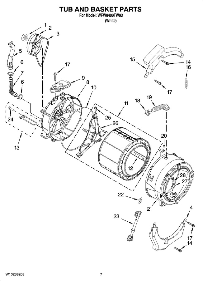 Diagram for WFW8400TW03