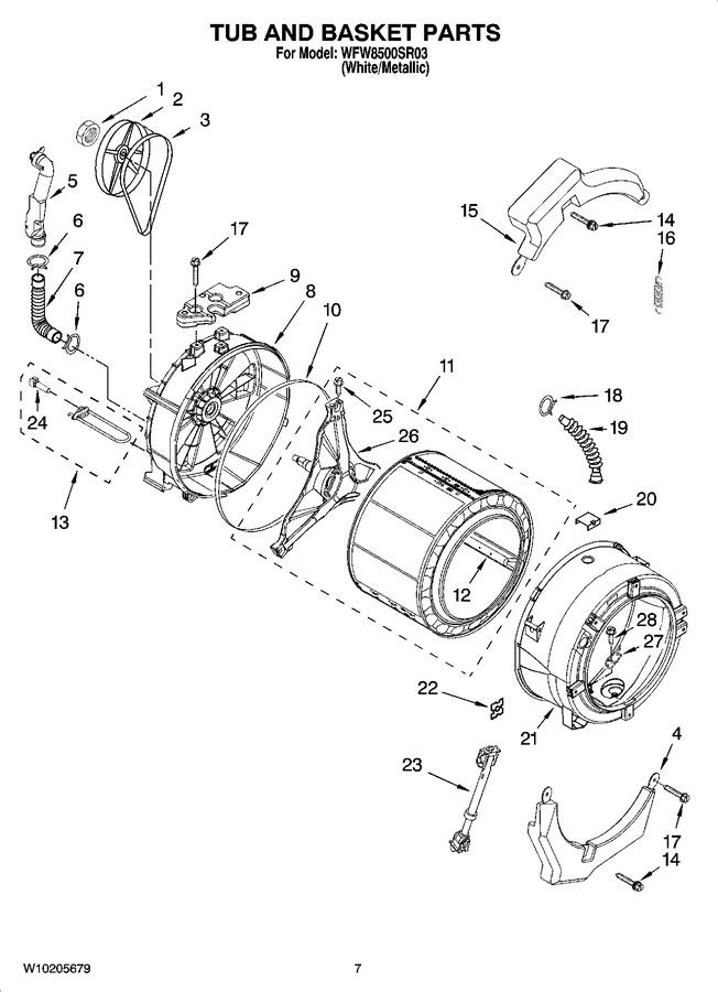 Diagram for WFW8500SR03