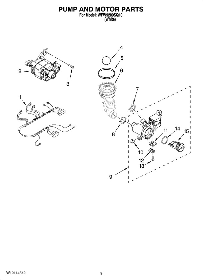 Diagram for WFW9200SQ10