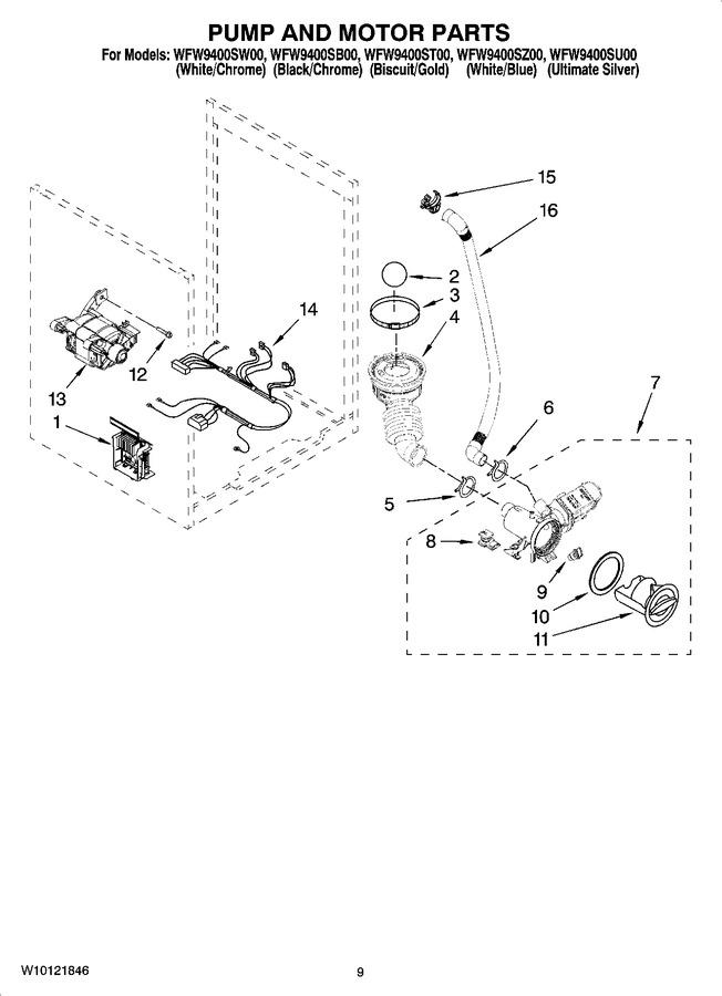 Diagram for WFW9400SB00