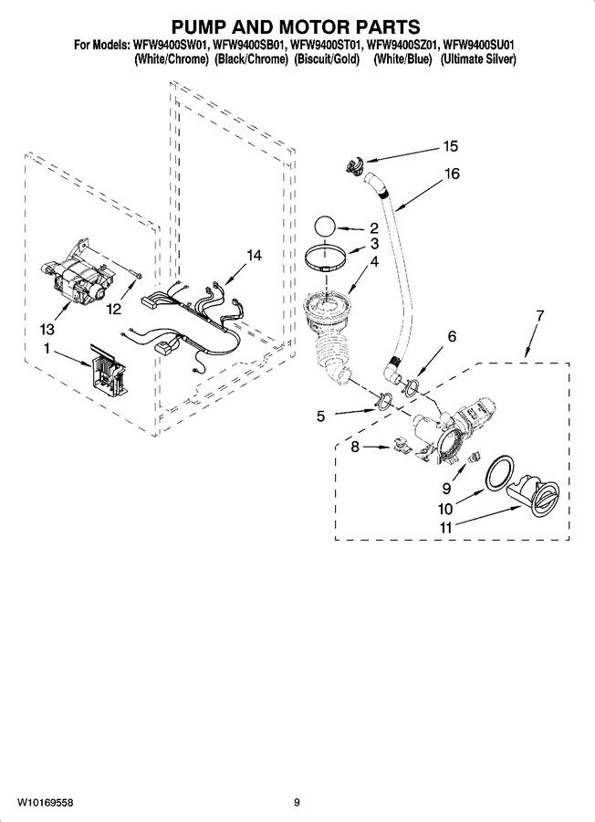 Diagram for WFW9400SU01