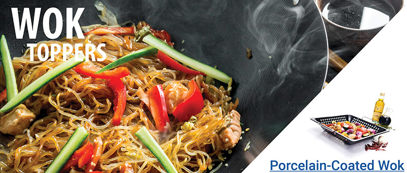 Wok Toppers - Porcelain-Coated Wok