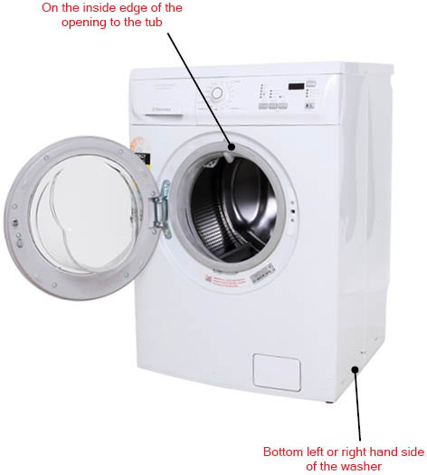 Locating The Model Number On A Front Load Washing Machine