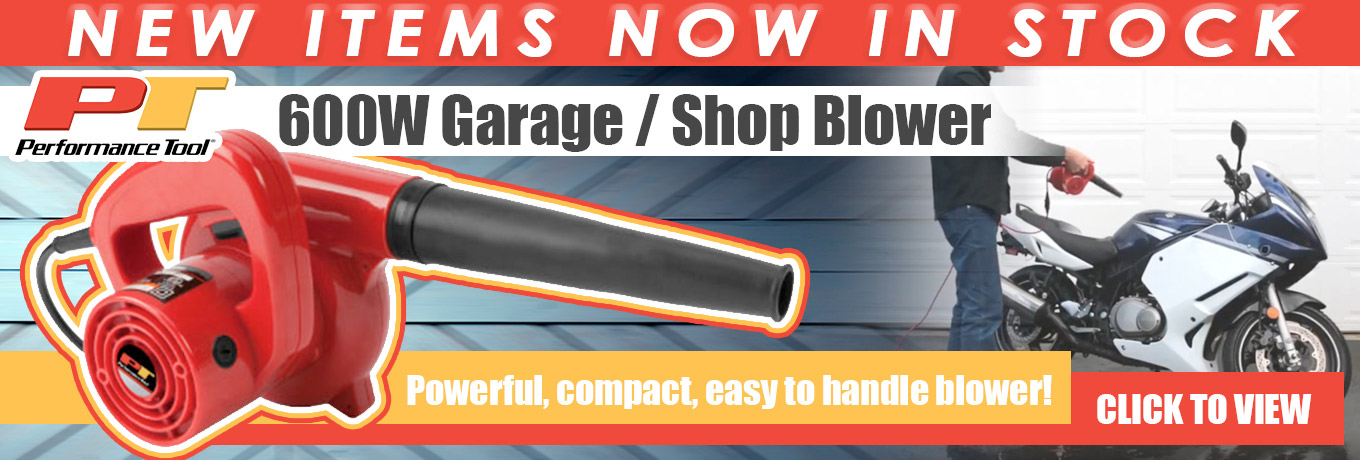 New Items in Stock - 600W Garage / Shop Blower  - Powerful, compact, easy to handle blower! Click to View