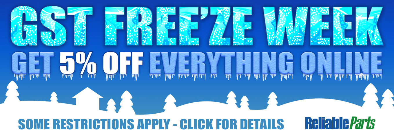 GST FREEZE WEEK - 5% OFF EVERYTHING - CLICK FOR DETAILS