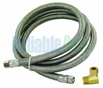 4' Stainless Steel  Dishwasher Hose, w / elbow